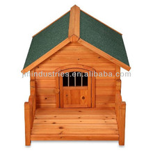 colorful wooden dog house