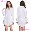 Hexin Cheap Double Pockets Summer White Fashion Dress