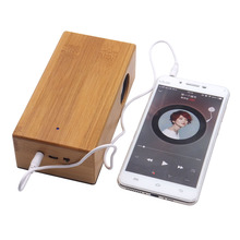 2017 Portable stereo Speaker USB charging Audio Speaker mini wood induction speaker for phone tablet pc