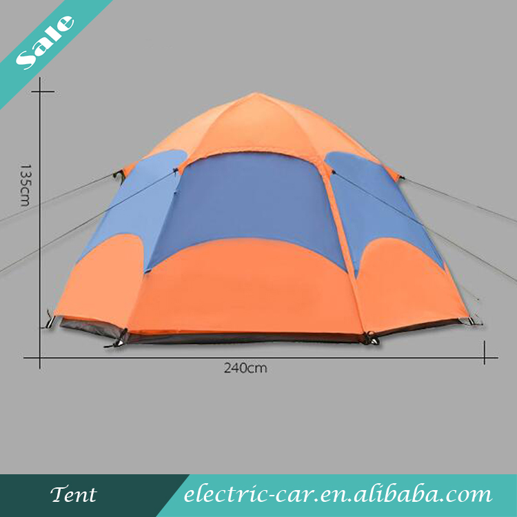 Top Sale Double Layers Automatic Large Camping Tent Six Corners Tent