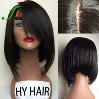 10''-18'' Straight Brazilian Human Hair Short Bob Lace Front Wig Bob Style Human Hair Full Lace Wig for Black Women