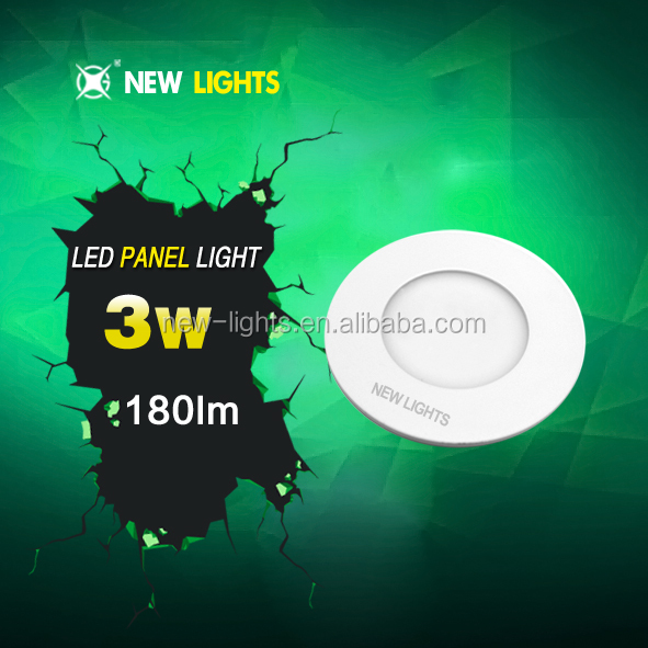ultra slim round square led small panel 6w 9w 12w 15w flat panel lights