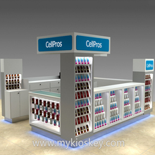 Nice looking mobile phone accessories kiosk cell phone case kiosk for mall