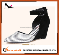 Profit Dress Shoes, Ankle strap wedge heel shoes, Fashion wedges shoes for women