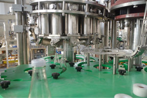 automatic glass bottle jam filling capping machine