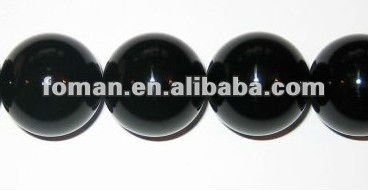 20mm round big agate bead names of black precious stones