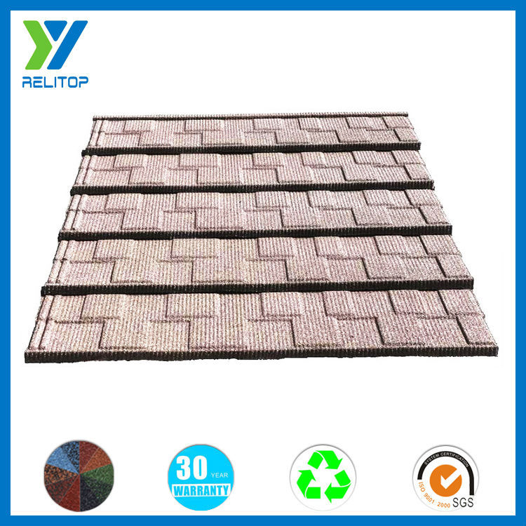 Low cost stone coated building materials metal roof tile for sale