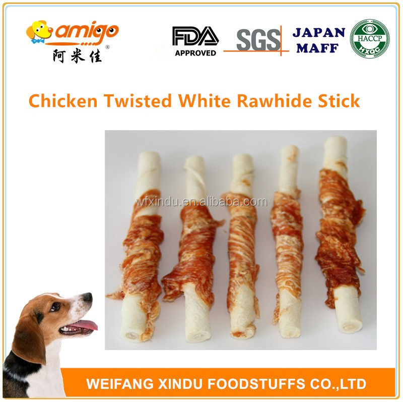 Chicken Twisted White Rawhide Stick Best For Dog OR Pet
