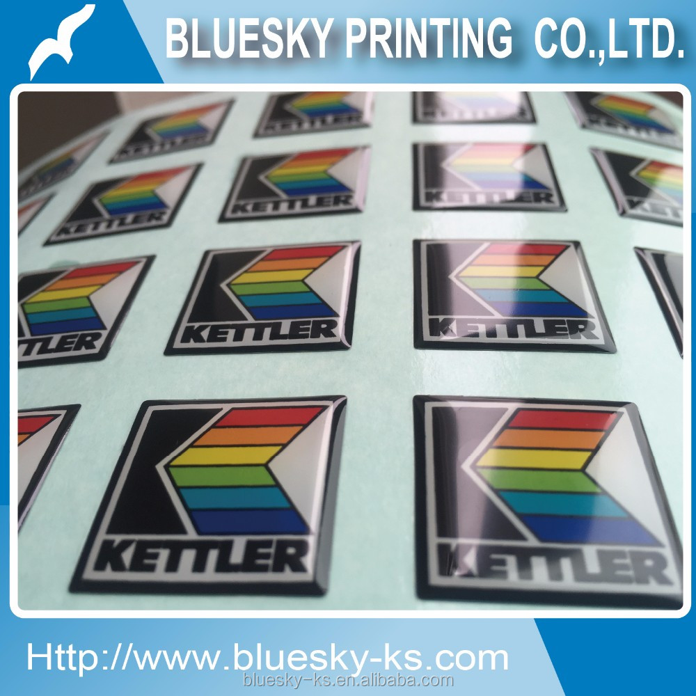 Custom Dome Epoxy stickers for fitness equipment, bicycle, home decoration
