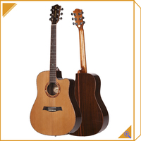 Chinese acoustic guitar solid top wood craft guitar