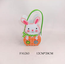 Cute Easter Bunny Gift Bag with Carrot Spring Easter Decoration