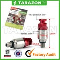 Motorcycle CNC Aluminum Fork Air Red Top Button Bleeder Pressure Relief Valve M5X0.8 For CR125R CRF250R