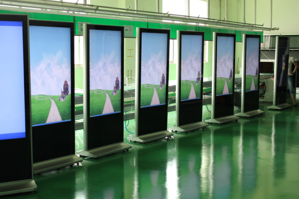 43 49 55 inch standalone ad display lcd advertising player with digital signage content management system