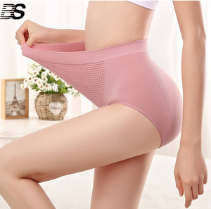 Wholesales High Waist Women Slim Briefs Butt Lifts Seamless Nylon Spandex Panties