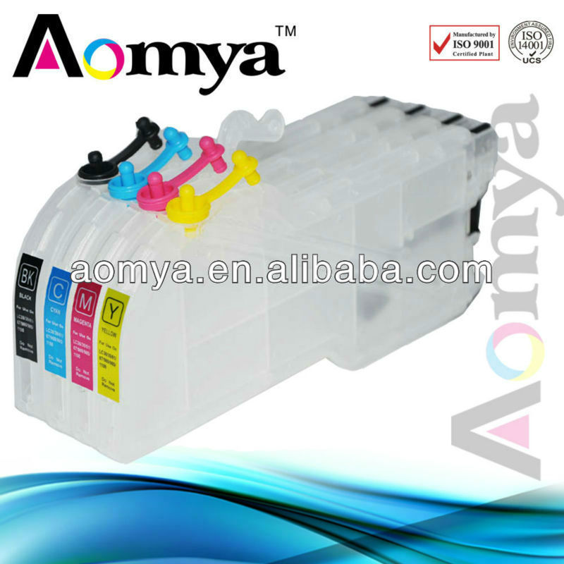 Aomya Refill Ink Cartridge LC39 LC985 for Brother J125 Printer LC980 for Brother