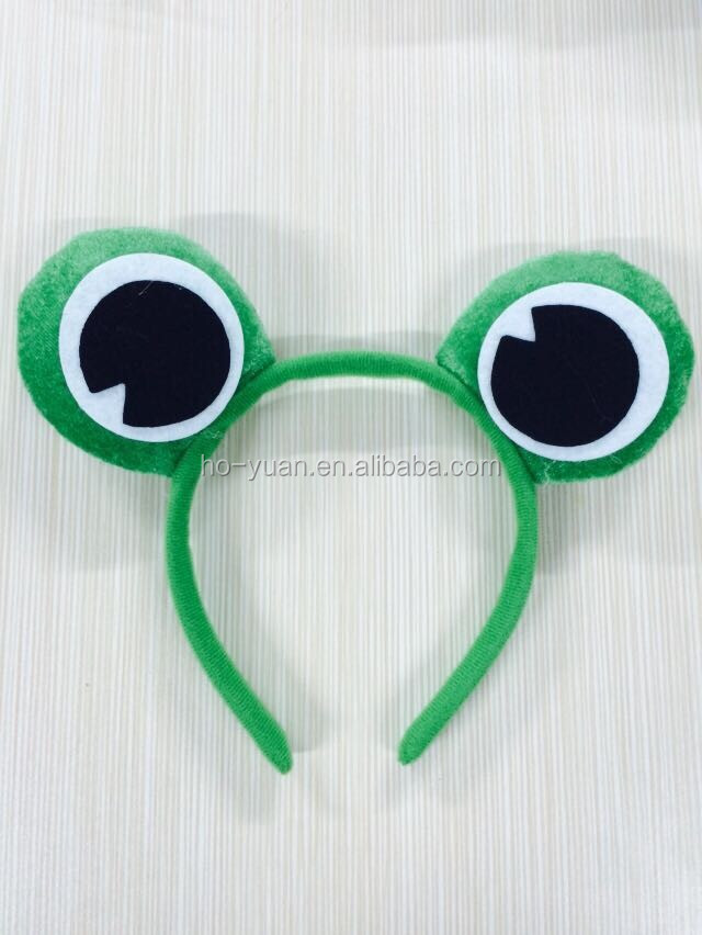 Top Quality Kids Popular Interesting Frog Eyes Plush Fabric Hairband