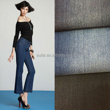 Aufar denim fabric 8+8 OA slub heavy cotton elastic twill smooth polyester fabric for paint-coat