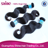 Guangzhou shine hair queen quality full cuticle 100% genuine malaysian hair extension