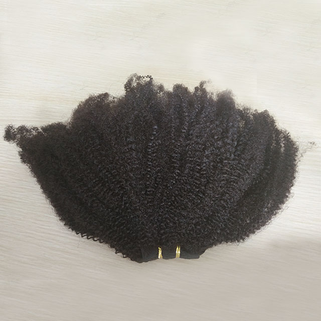2019 new remy hair kinky curly hair weft in stock