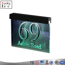 Acrylic Led Light Hanging Modern Door Numbering House Number room sign