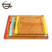 pizza type bamboo material cutting board set