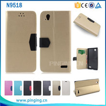 Top Selling Premium Golden Leather Boost Mobile Phone Case for ZTE Warp Elite N9518
