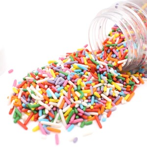 Christmas Cake Decoration Candy Mini Sweet Rainbow Jimmies Sprinkle