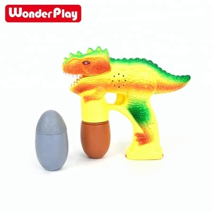 US STOCK LED Dinosaur bubble gun with light and music