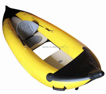 Primary grade PVC inflatable fishing kayak with see through bottom