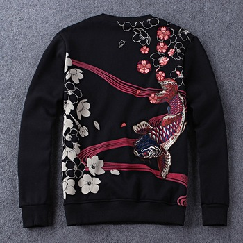 MS70962G New design men with velvet embroidered hoodies