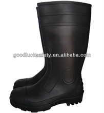 2015 hot sale PVC acids/alkali resistant rubber boots steel toe