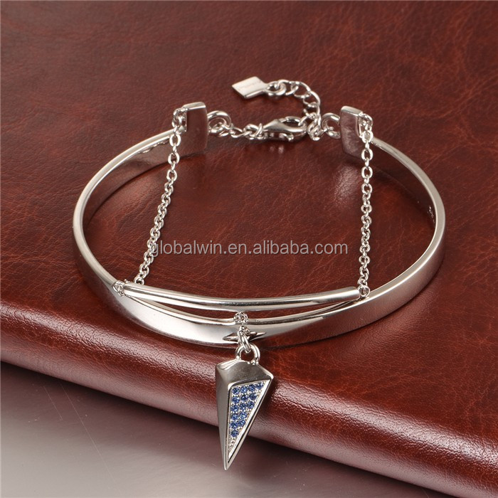 European Design Specific gifts design sterling 925 silver bangle bracelet