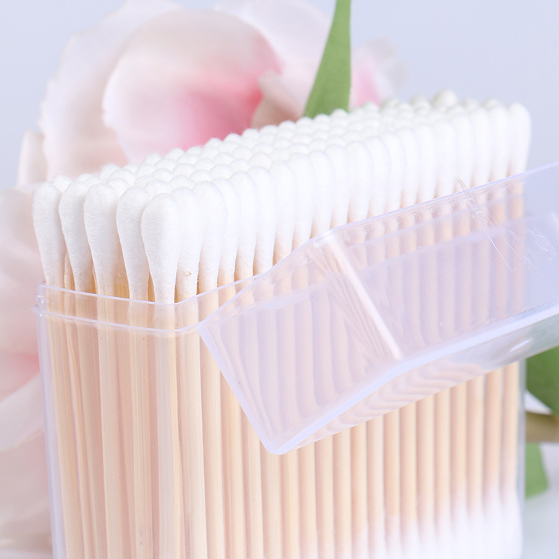 JIEJIEYA high quality 100pcs box packed bamboo cotton buds