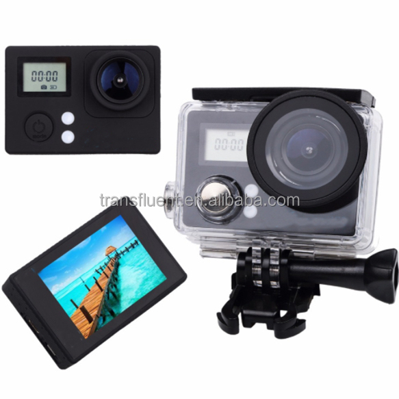 0.66+2 inch two screen wifi 4K sport camera camcorder 7 colors available