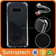 Air Cushion Corners Scratch Resistant shockproof Clear Phone Case with Edges Coverage for galaxy s8 plus galaxy s8 STSS8C12