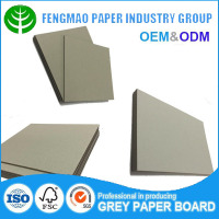 favorable price laminated grey cardboard 3mm thick chip board/cardboard paper in sheets