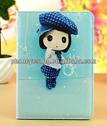 New Arrival Girl Leather Stand Case Cover For iPad mini