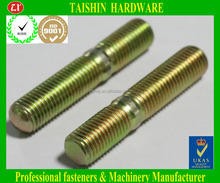 Yellow zinc Double Ended Threaded Rod Stud Bolt for Furniture