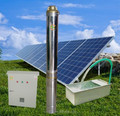 Agriculture application solar pumping system 0.55KW motor power Max. 330m head lift