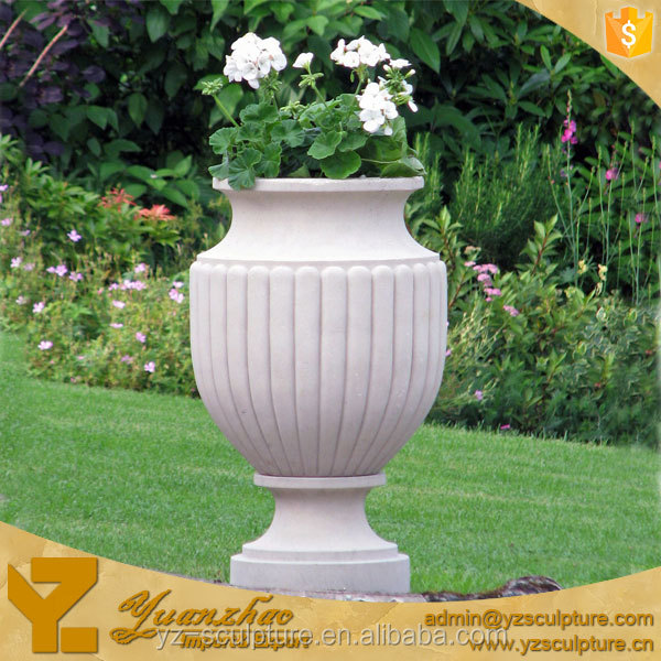 Decorative stone garden flower pot for garden hot sale for Large garden stones for sale