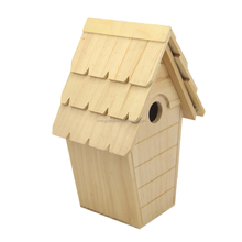 wholesale factory BSCI christmas wild garden wooden Cottage pet bird cages carriers home house shelter