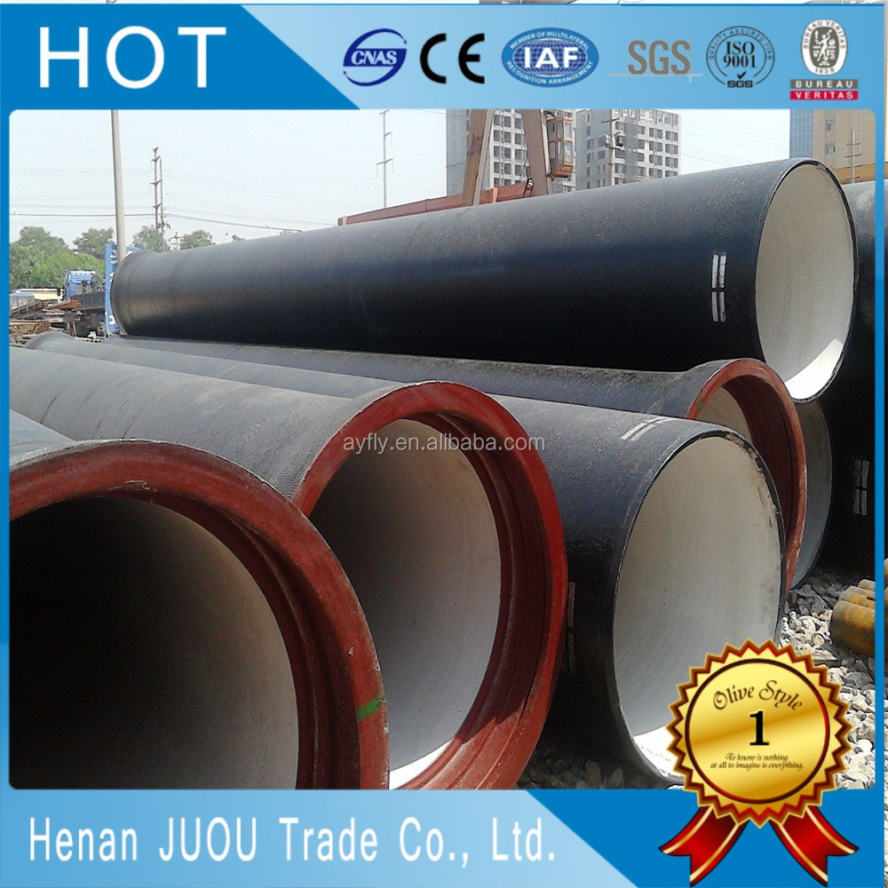 en545 ductile iron pipe/iron cast pipe/oval iron pipe price