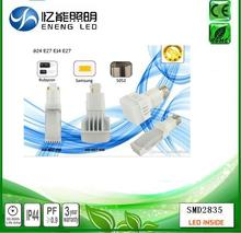 high quality 9W G24Q G24D led pl lamp /plc 4 pin led g24 lamp with samsuny 5630 replace 30W HPS MHL HID AC 85-265V
