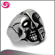 Hot Sale Punk Double-faced Horrible Men's Masonic Devil Skull Ring