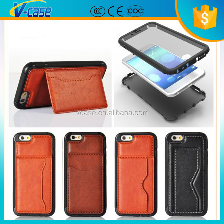 "Genuine HandMade Wallet Real Leather Flip Case for New iPhone 6 4.7"" inch"