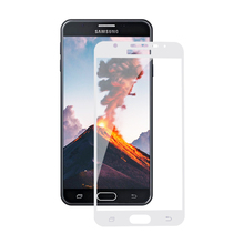 Colored Silk Phone Screen Tempered Glass Protector for Samsung Galaxy j7 Prime Curve 2016 Sky Pro
