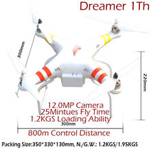 RC Quadcopter Dreamer 1th with GPS Hold System VS Walkera QR X350 Pro Drone Support GPS One Key Go Home And Aerial Photography