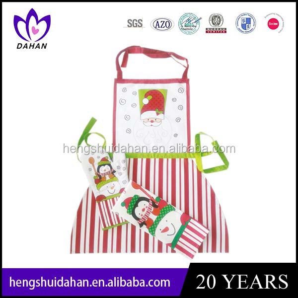 hot sale apron and pot holder and oven mitt set wholesale