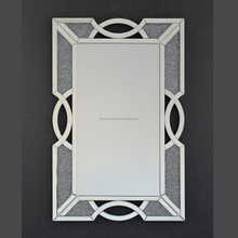 Crush diamond shinny crystal framed wall decorative bathroom mirror