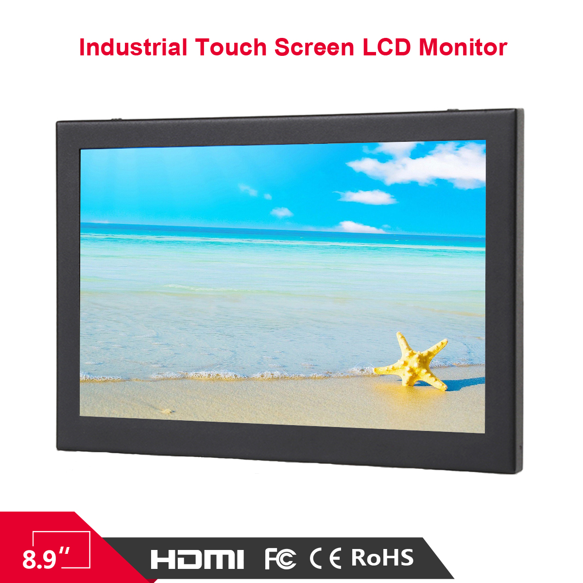 Bestview cheap price industrial display 8.9 inch Touch Screen Monitor with metal case used for KIOSK ATM KTV Gaming Machnies